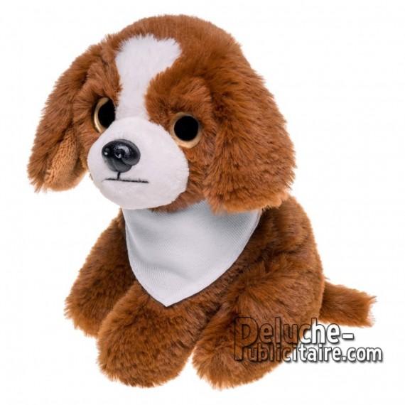 Achat Peluche chien 14 cm. Peluche Publicitaire chien à Personnaliser. Ref:XP-1265