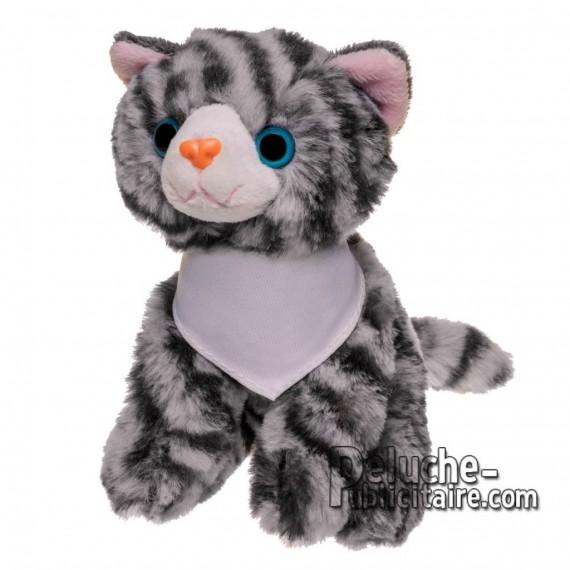 Achat Peluche chat 14 cm. Peluche Publicitaire chat à Personnaliser. Ref:XP-1266