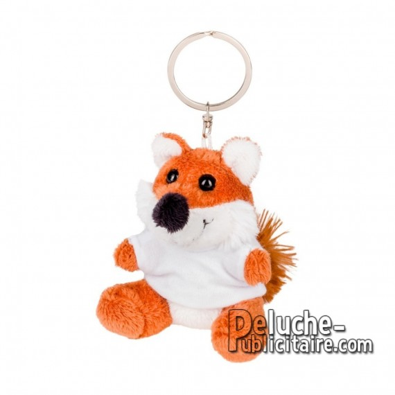 Buy Plush Keychain fox 8 cm. Advertising fox plush to personalize. Ref: XP-1269