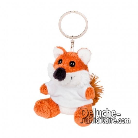 Buy Plush Keychain fox 8 cm.Advertising fox plush to personalize.Ref: XP-1269
