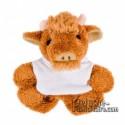 Buy Stuffed bull 9 cm.Bull Toy Plush to Personalize.Ref: XP-1271