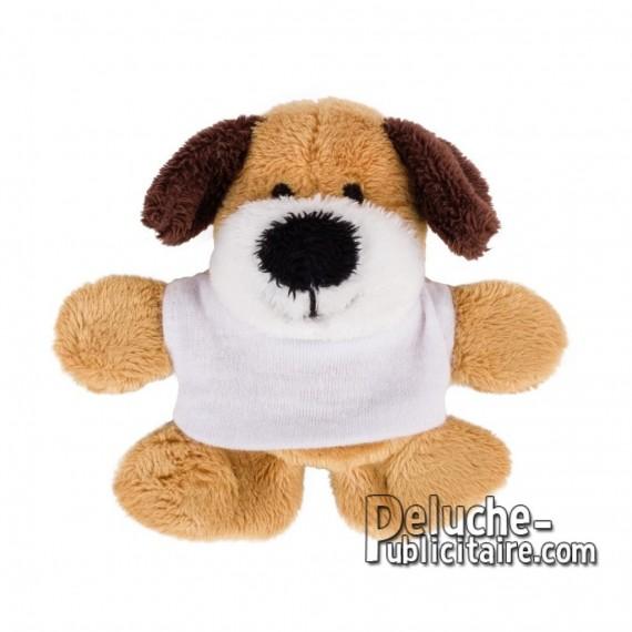 Achat Peluche chien 9 cm. Peluche Publicitaire chien à Personnaliser. Ref:XP-1274