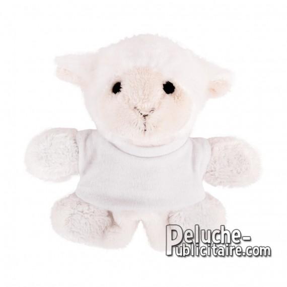 Achat Peluche mouton 9 cm. Peluche Publicitaire mouton à Personnaliser. Ref:XP-1275