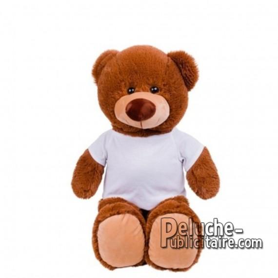 Achat Peluche ours 40 cm. Peluche Publicitaire ours à Personnaliser. Ref:XP-1282