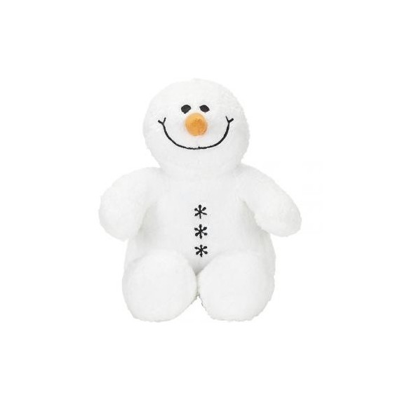 Achat peluche bonhomme de neige blanc 20cm. Peluche personnalisée.