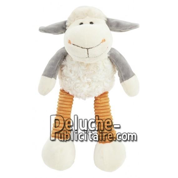 Achat peluche mouton blanc 16cm. Peluche personnalisée.