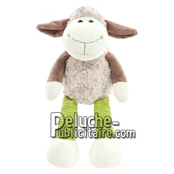 Achat peluche mouton gris 23cm. Peluche personnalisée.