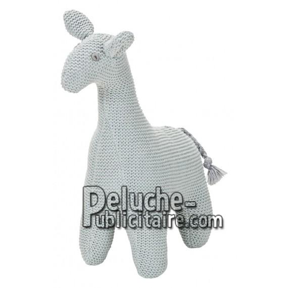 Achat peluche girafe gris 19cm. Peluche personnalisée.