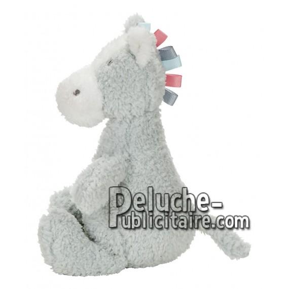 Achat peluche âne gris 20cm. Peluche personnalisée.