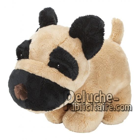 Achat peluche chien marron 15cm. Peluche personnalisée.