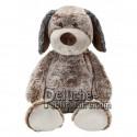 Achat peluche chien marron 36cm. Peluche personnalisée.
