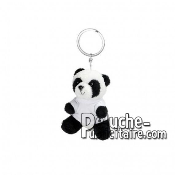 Achat peluche porte-clés panda blanc 8cm. Peluche personnalisée.
