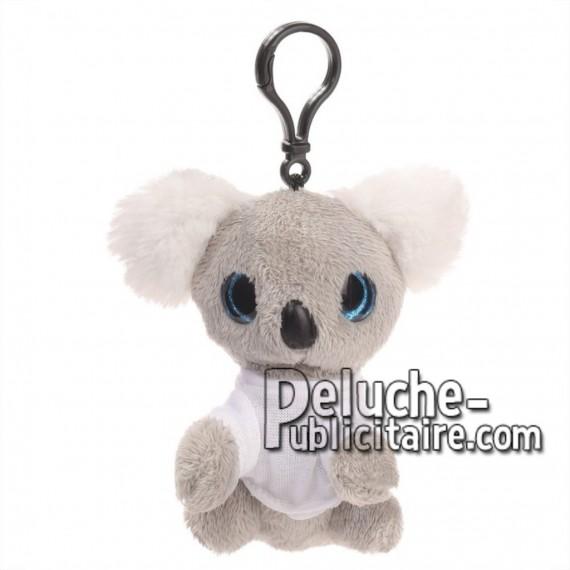 Achat peluche porte-clés koala gris 10cm. Peluche personnalisée.