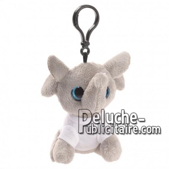 Achat peluche porte-clés éléphant gris 10cm. Peluche personnalisée.