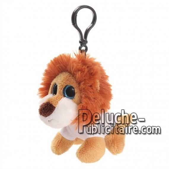 Achat peluche porte-clés lion marron 10cm. Peluche personnalisée.