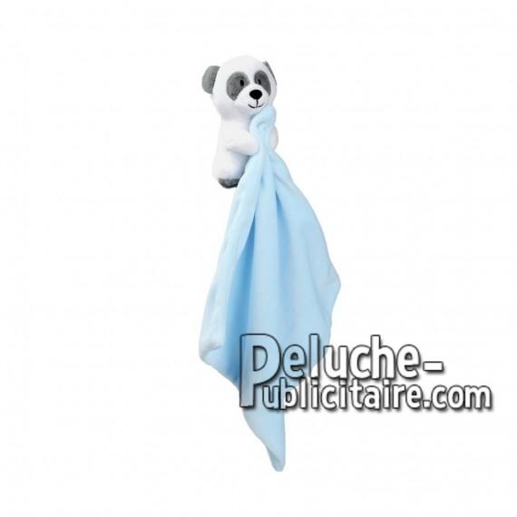 Achat peluche doudou panda bleu 11cm. Peluche personnalisée.