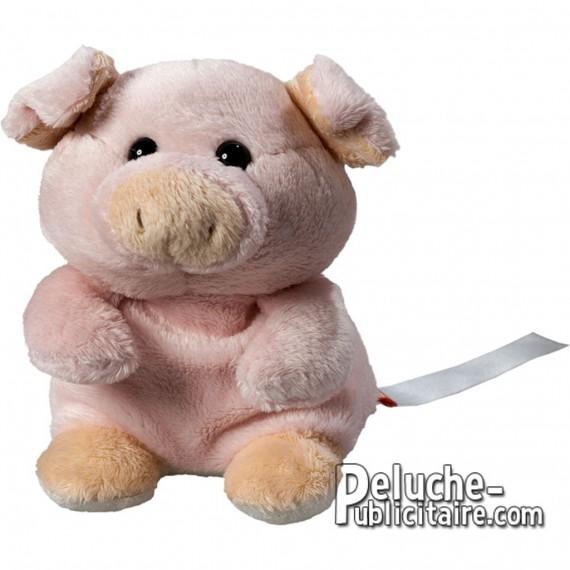 Achat Peluche Cochon 12 cm. Peluche à Personnaliser.