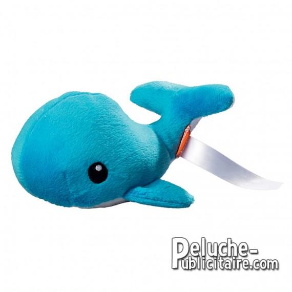 Achat Peluche Baleine 16 cm. Peluche à Personnaliser.