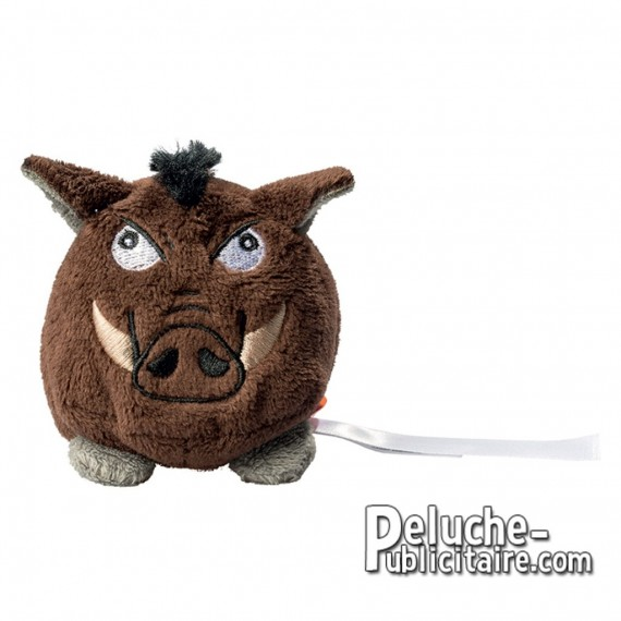 Buy brown Boar Stuffed Toy 7 cm. Personalizable Boar plush toy.
