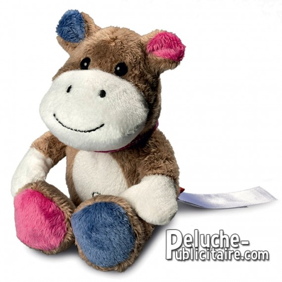 Buy Hippo Plush Toy 12 cm. Plush to customize.