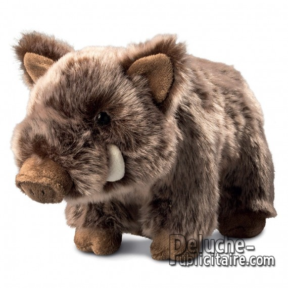Buy Plush Boar 17 cm.Plush to customize.