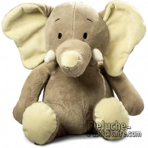 Achat Peluche Éléphant 25 cm. Peluche à Personnaliser.