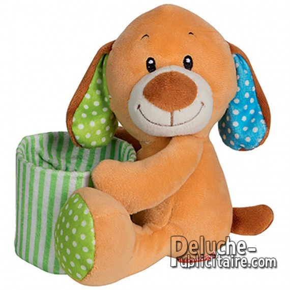 Purchase Teddy Dog Holds Pencils 15 cm.Plush to customize.