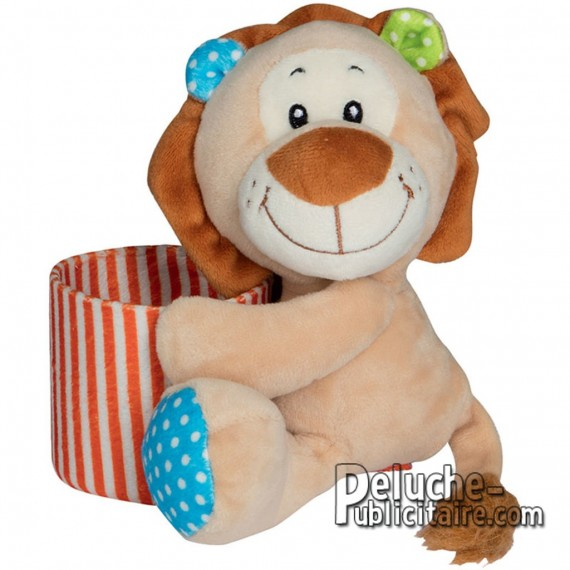 Purchase Lion Plush Holds Pencils 15 cm. Plush to customize.