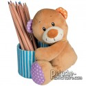 Pencil holder bear teddy bear to customize.