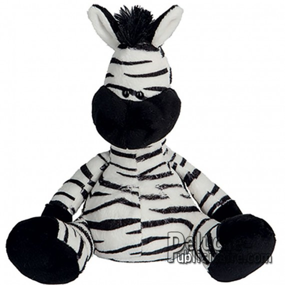Purchase Zebra Plush 18 cm. Plush to customize.