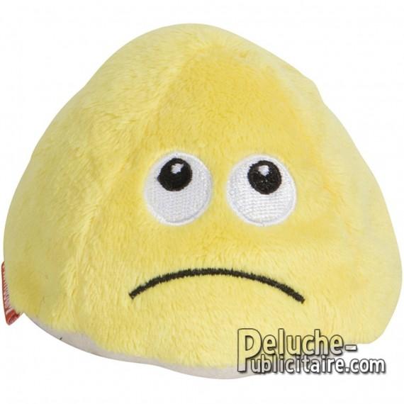 Happy and sad plush toy to customize.