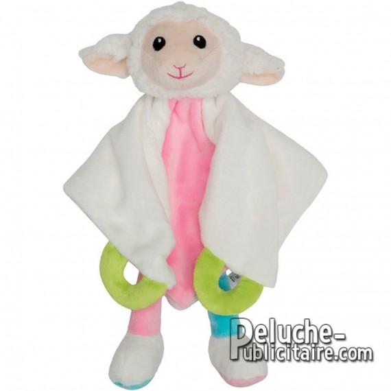 Doudou mouton peluche personnalisée pour enfant.