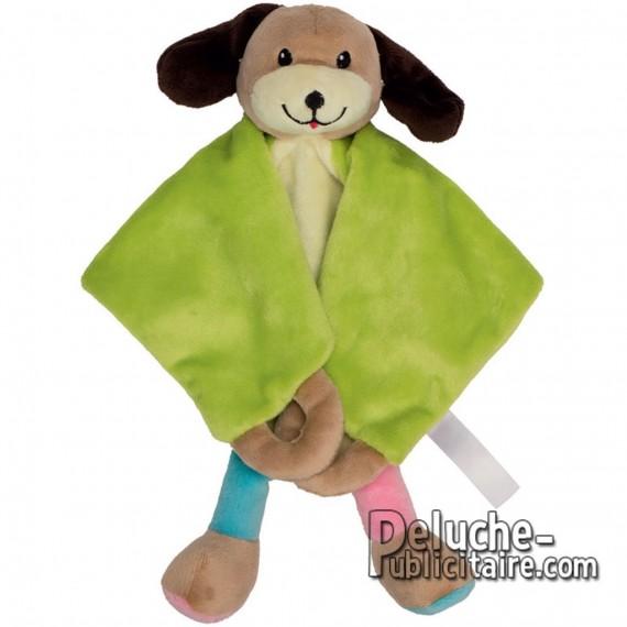 Custom dog doudou plush toy with logo.