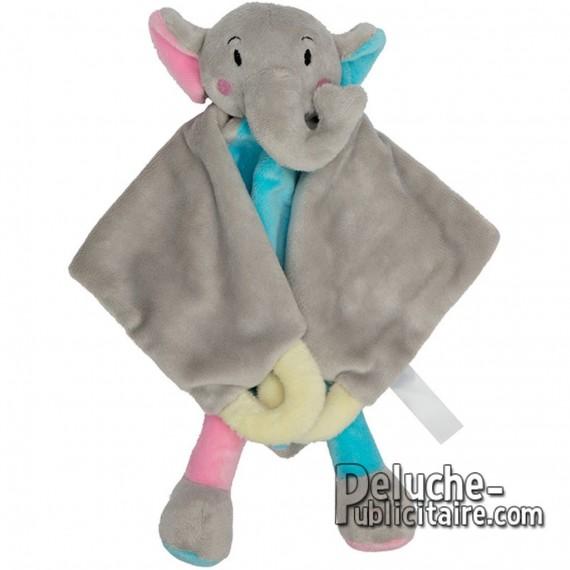 Doudou éléphant peluche personnalisée avec logo.