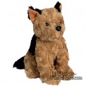 Brow dog plush toy to personalize with logo.