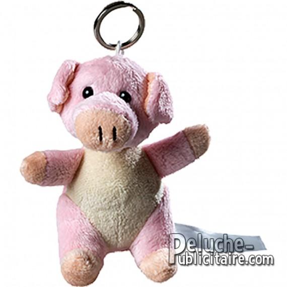 Achat Porte Clés Peluche Cochon Taille 10cm. Peluche à Personnaliser.