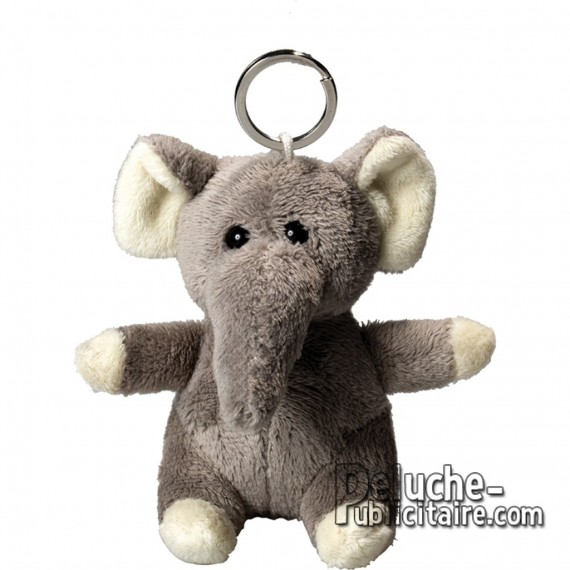 Buy Elephant Plush Keyring Size 10 cm.