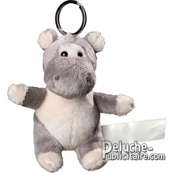 Buy Keyring Plush Hippopotamus Size 10 cm.