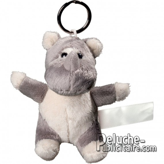 Buy Rhinoceros Plush Keyring Size 10 cm.