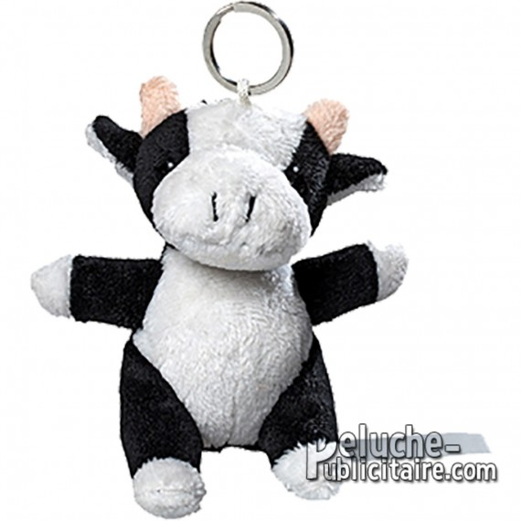 Buy Keychain Plush Cow Size 10cm.Plush to customize.