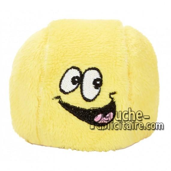 Achat peluche balle de tennis jaune 7cm. Peluche personnalisée.