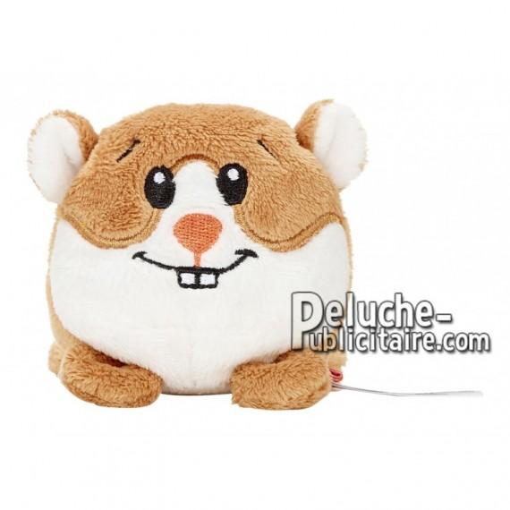 Achat peluche hamster marron 7cm. Peluche personnalisée.