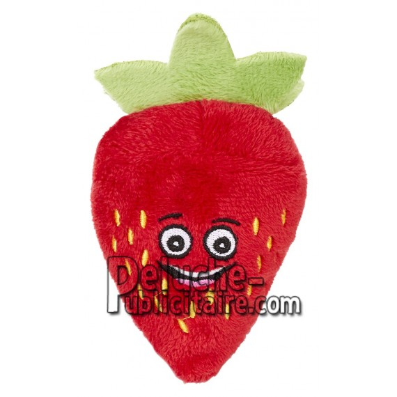 Achat peluche fraise rouge 7cm. Peluche personnalisée.