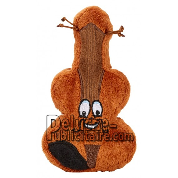 Achat peluche violon marron 16cm. Peluche personnalisée.