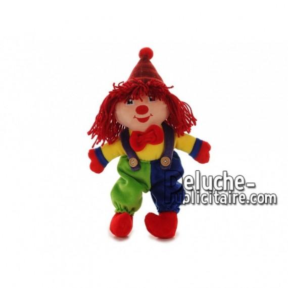 Achat autres clown multicolore 30cm. Peluche personnalisée.