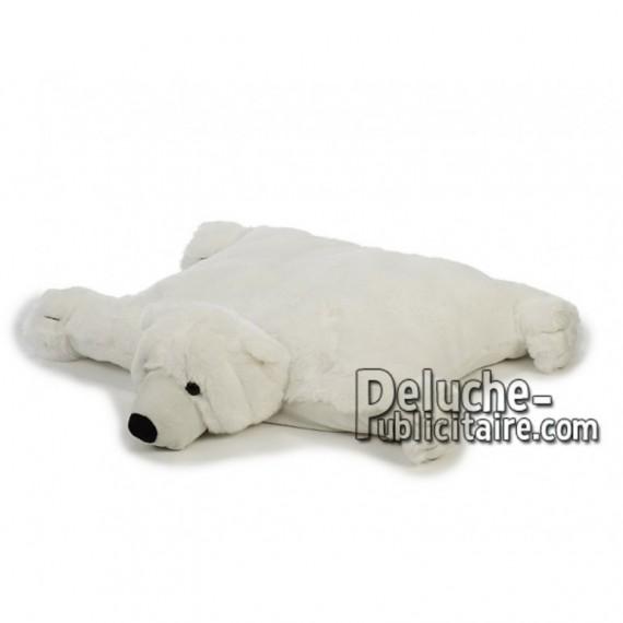 Achat oreiller ours polaire blanc 54cm. Peluche personnalisée.