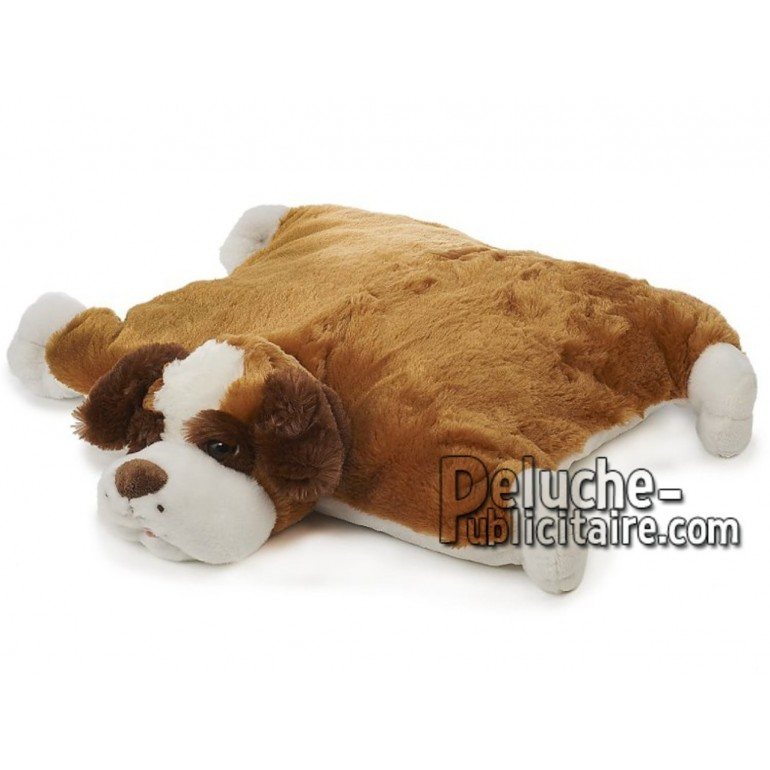 Achat oreiller chien brun 54cm. Peluche personnalisée.