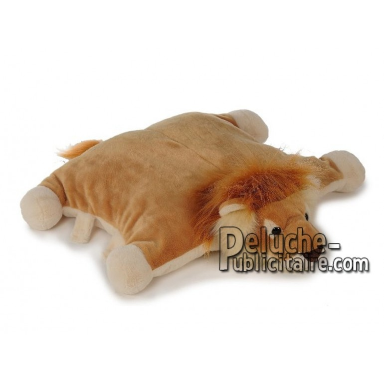 Achat oreiller lion marron 54cm. Peluche personnalisée.