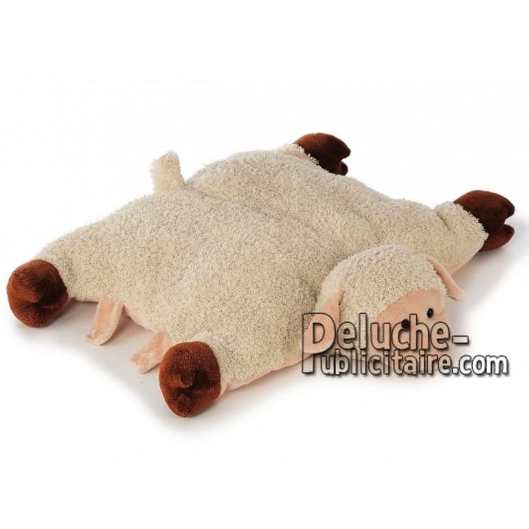 Achat oreiller mouton beige 54cm. Peluche personnalisée.