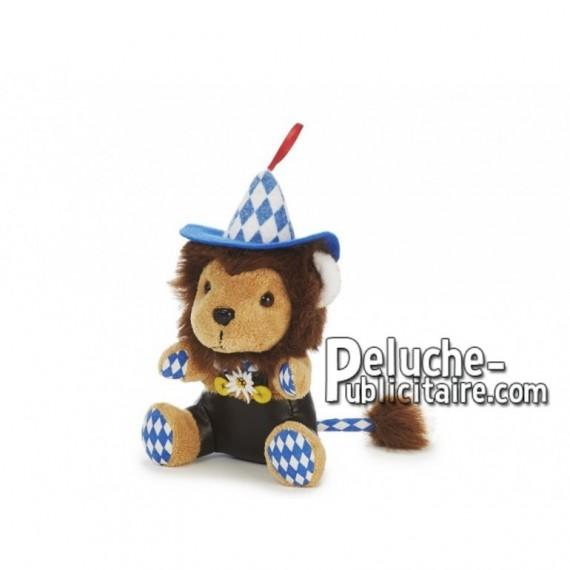 Achat peluche lion bavarois marron 17cm. Peluche personnalisée.